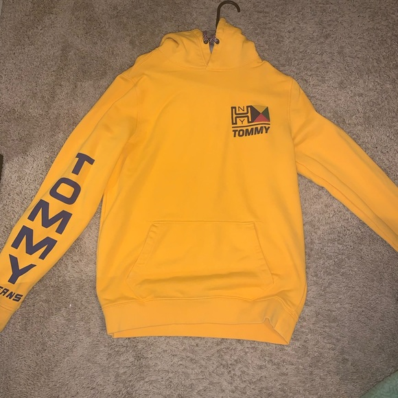 Details about Tommy Hilfiger x Lewis Hamilton Ombré Short Sleeve Hooded Sweatshirt Sz. XL EUC